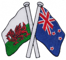 Wales & New Zealand Friendship Embroidered Patch A177